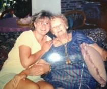 My grandma (Stella) and me
